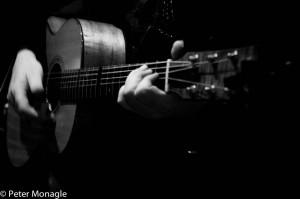 Guitar close up B & W